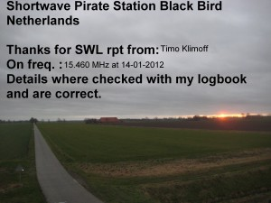 Radio Black Bird QSL