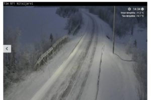 Weather web cam from Nitsijärvi, near Aihkiniemi site. (Photo: Liikennevirasto)